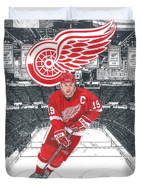 Steve Yzerman  Duvet Cover
