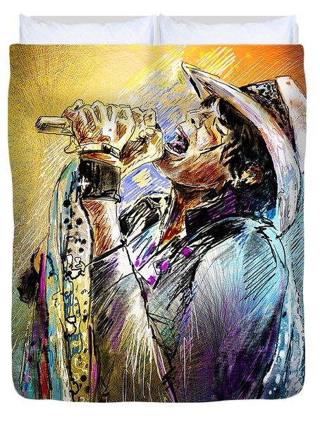 Steven Tyler 01  Aerosmith Duvet Cover