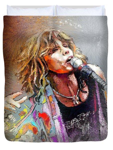 Steven Tyler 02  Aerosmith Duvet Cover