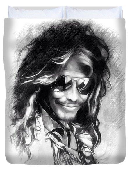 Steven Tyler Illustration  Duvet Cover