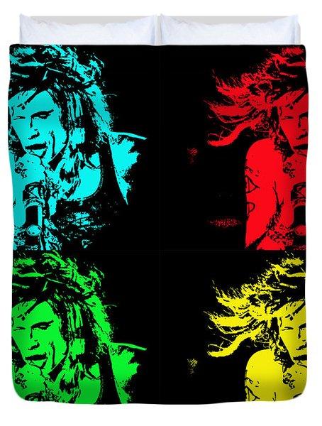 Steven Tyler Pop Art Duvet Cover