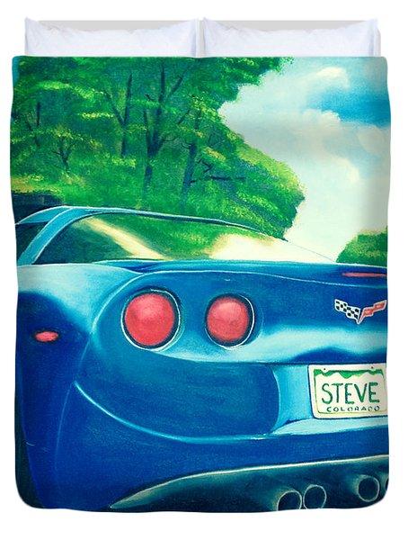 Steve's Corvette Duvet Cover