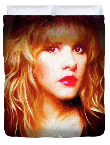 Stevie Nicks Drawing Duvet Cover