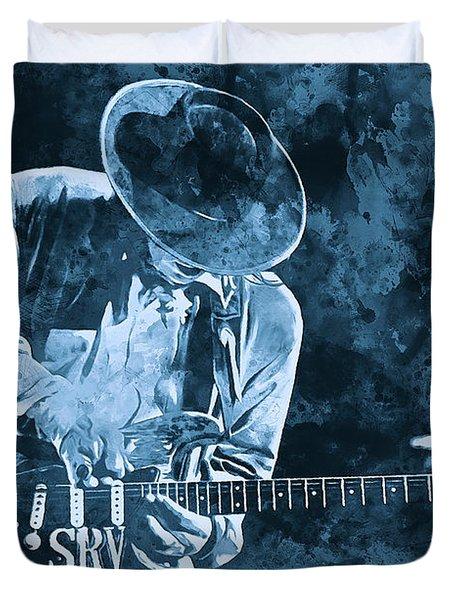 Stevie Ray Vaughan - 12 Duvet Cover