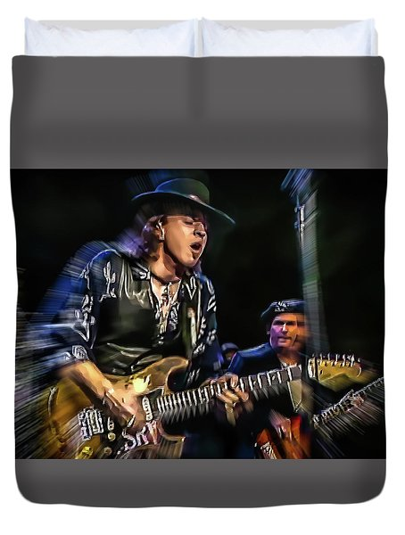 Stevie Ray Vaughan - Couldn't Stand The Weather Duvet Cover