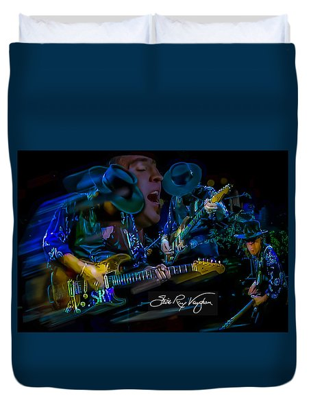 Stevie Ray Vaughan - Double Trouble Duvet Cover