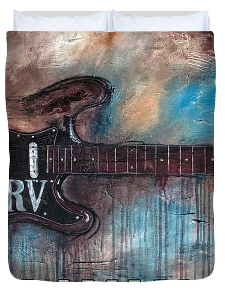 Stevie Ray Vaughan Double Trouble Duvet Cover