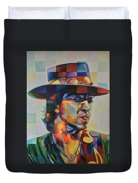 Stevie Ray Vaughan Duvet Cover by Steve Hunter