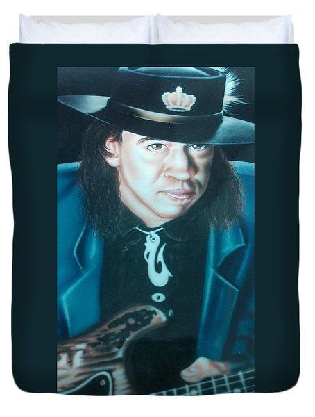 Stevie Ray Vaughn Duvet Cover