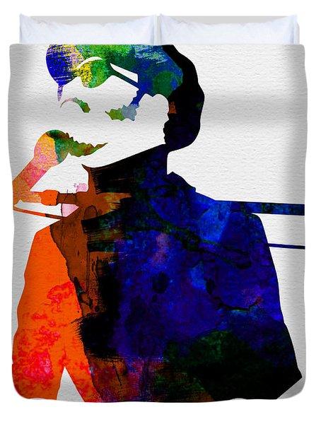 Stevie Watercolor Duvet Cover