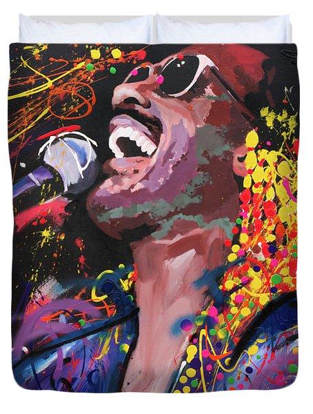 Stevie Wonder Duvet Cover by Richard Day