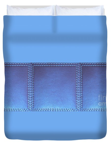 Stiched Leather Look Blue Abstract Wall Decorations By Navinjoshi At Fineartamerica.com Download Jpg Duvet Cover