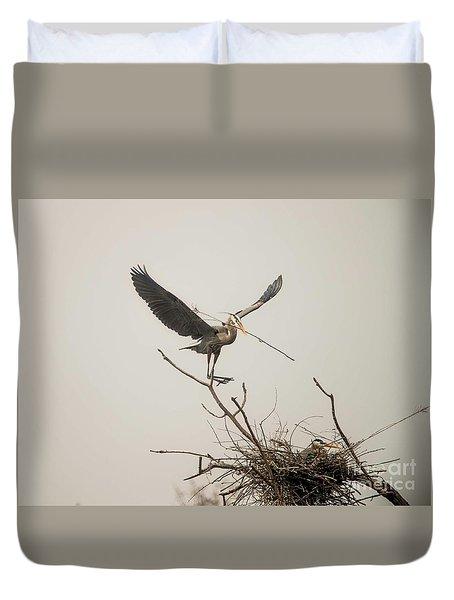 Duvet Cover featuring the photograph Stick Man by David Bearden