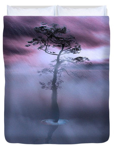 Stick Together The Storm Will Pass Duvet Cover by Gray  Artus