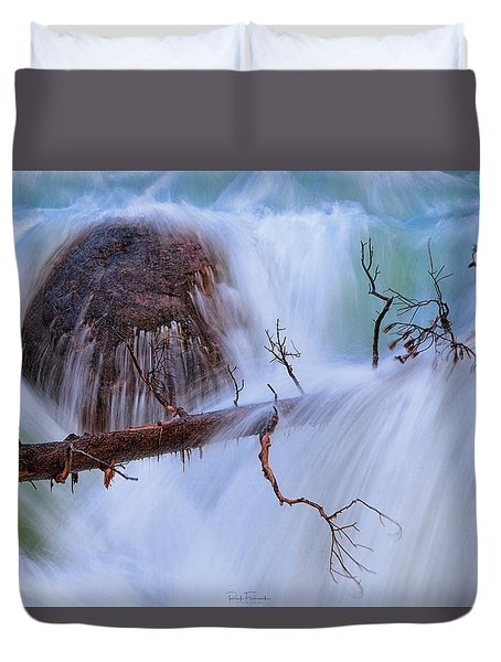 Duvet Cover featuring the photograph Sticks And Stones by Rick Furmanek