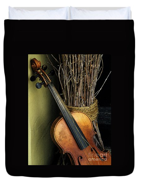 Sticks And Strings Duvet Cover