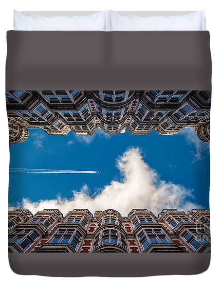 Stiff Neck Duvet Cover by Giuseppe Torre