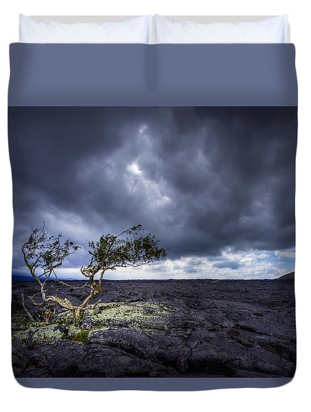 Duvet Cover featuring the photograph Still Fighting by Dan Mihai