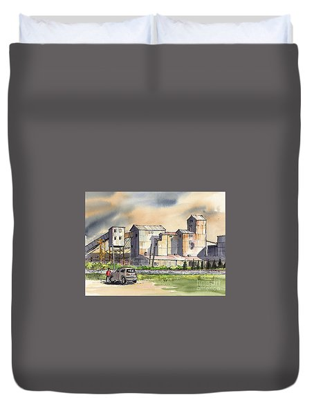 Still In Business Duvet Cover by Terry Banderas