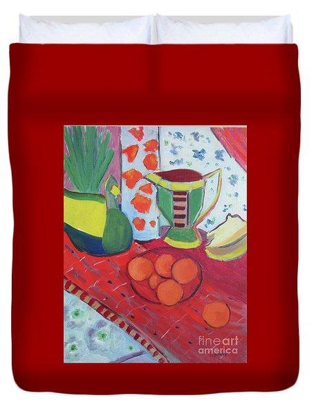 Still Life After Matisse Duvet Cover