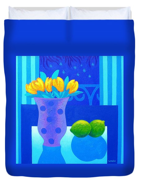 Still Life At Window IIi Duvet Cover by John  Nolan