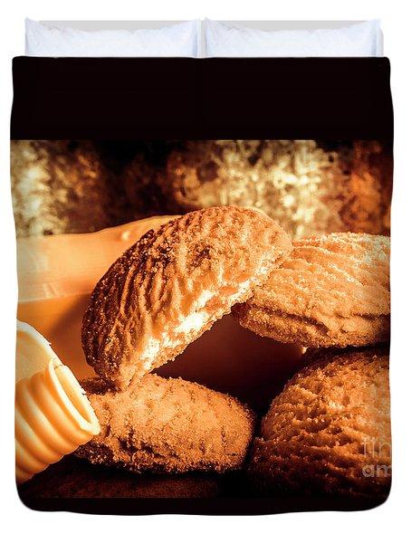Still Life Bakery Art. Shortbread Cookies Duvet Cover