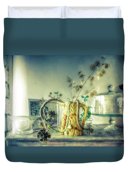 Duvet Cover featuring the photograph Still, Life Goes On by Wayne Sherriff