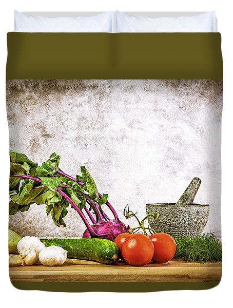 Duvet Cover featuring the photograph Still Life I by Stefan Nielsen