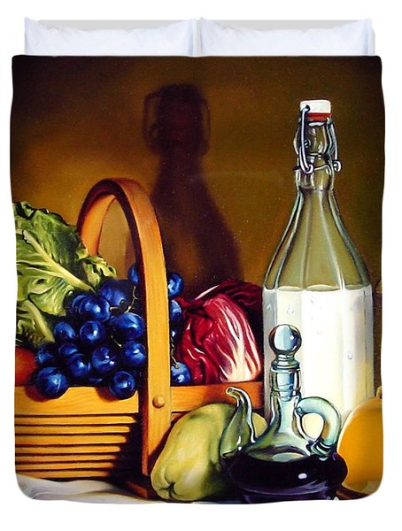Still Life In Oil Duvet Cover