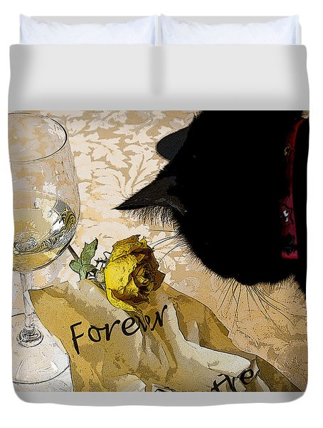 Still Life Interrupted #1 Duvet Cover