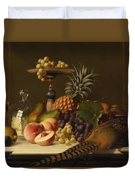 Still Life Duvet Cover by Johann Wilhelm Preyer