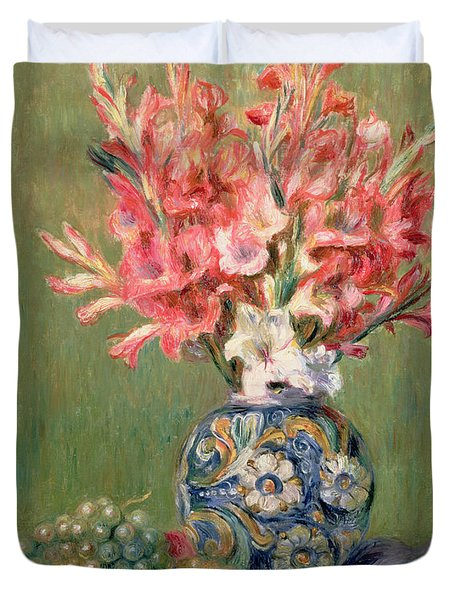 Still Life Of Fruits And Flowers Duvet Cover by Pierre Auguste Renoir