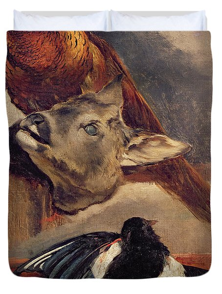 Still Life Of Game Duvet Cover by Theodore Gericault