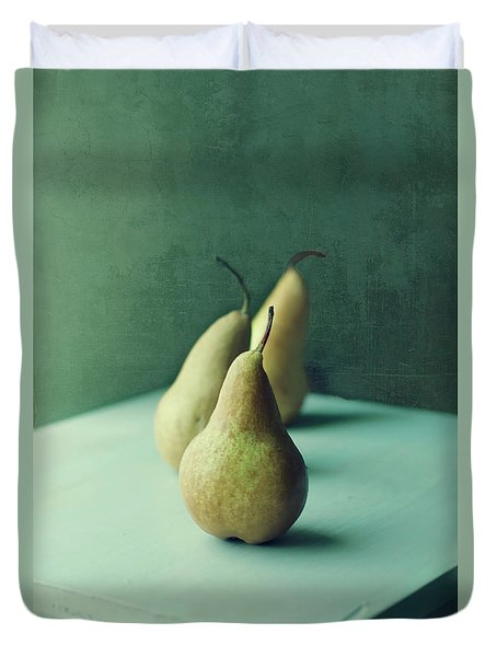 Still Life Series- Pears IIi Duvet Cover