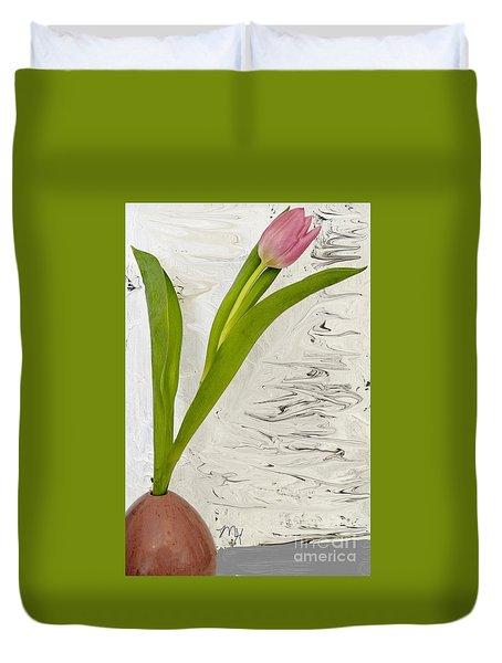 Still Life Tulip Duvet Cover by Marsha Heiken