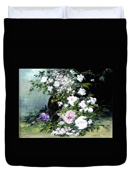 Still Life W/flowers Duvet Cover