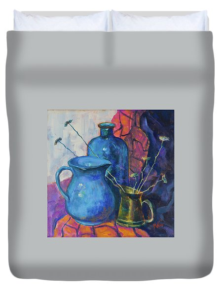 Still Life With A Blue Bottle And The Other Subjects Duvet Cover