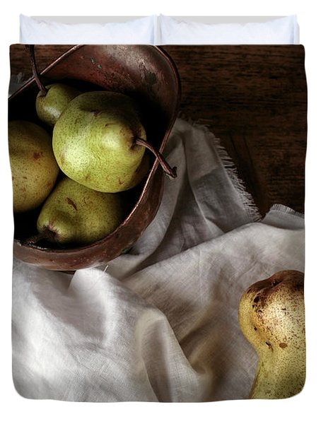 Still-life With Arrangement Of Pears  Duvet Cover