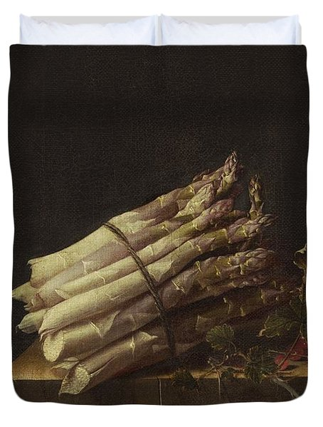 Still Life With Asparagus And Red Currants Duvet Cover