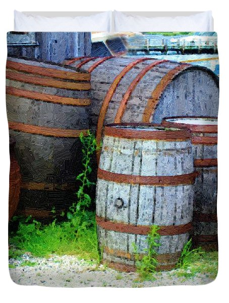 Still Life With Barrels Duvet Cover by RC DeWinter