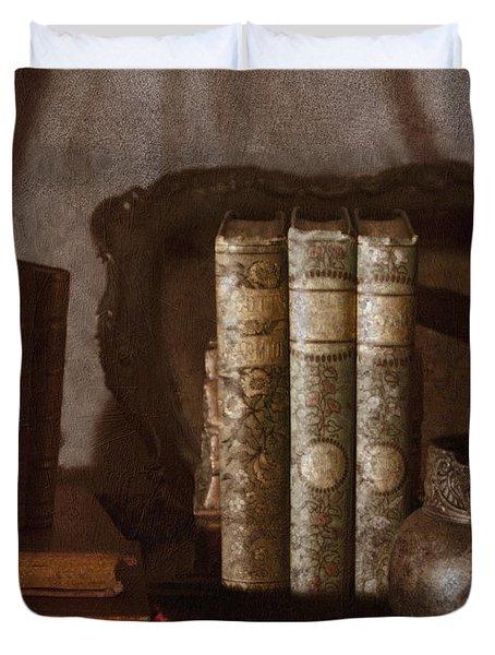 Still Life With Books Duvet Cover