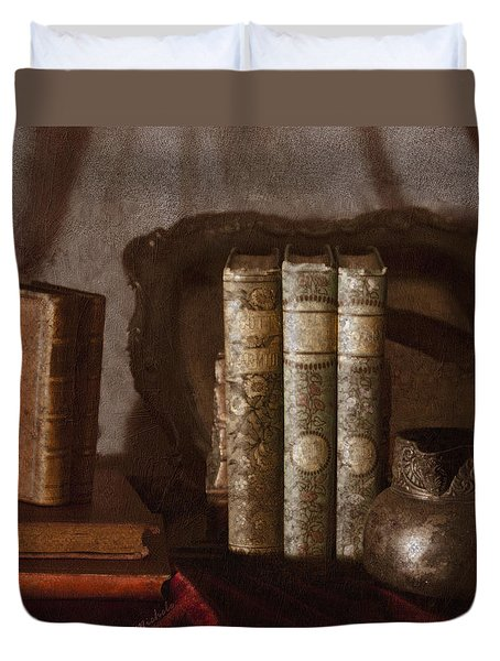Still Life With Books Duvet Cover