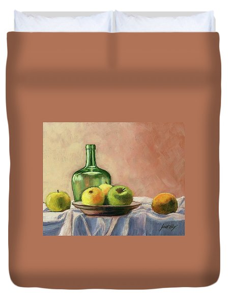 Still Life With Bottle Duvet Cover