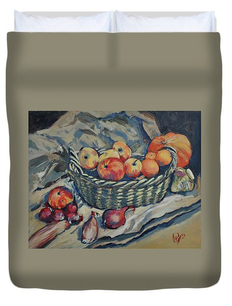 Still Life With Fruit And Vegetables Duvet Cover