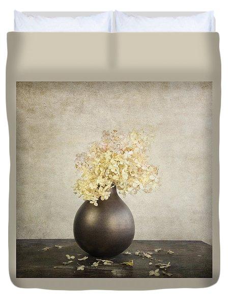 Still Life With Hydrangea Duvet Cover by Theresa Tahara