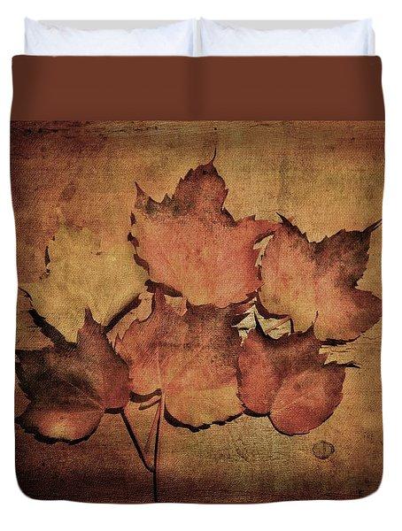 Still Life With Leaves Duvet Cover