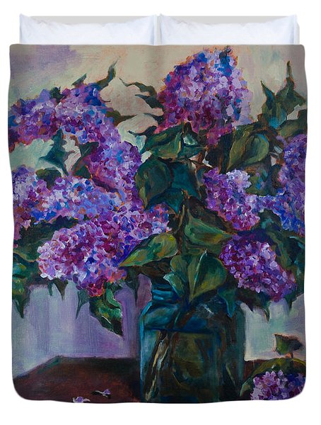 Still Life With Lilac  Duvet Cover