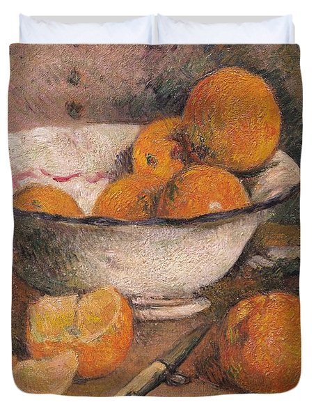 Still Life With Oranges Duvet Cover by Paul Gauguin
