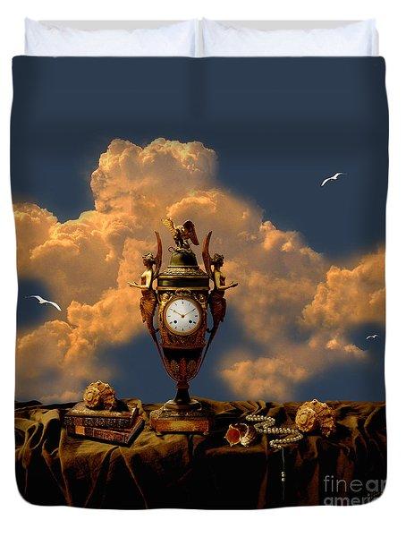 Duvet Cover featuring the digital art Still Life With Pearls by Alexa Szlavics