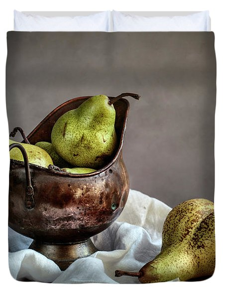 Still-life With Pears Duvet Cover